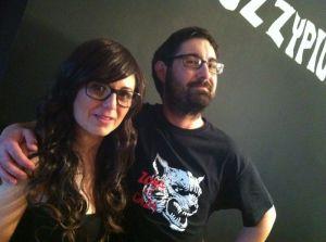L'Esther Vila i jo, la parella protagonista del curtmetratge.